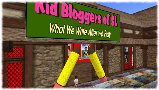 Kid Bloggers of SL Display outside