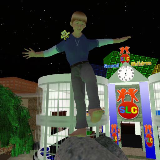 Adz Balancing On SLC Centre Statue