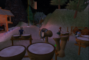 Playing Drums at Scout Camp